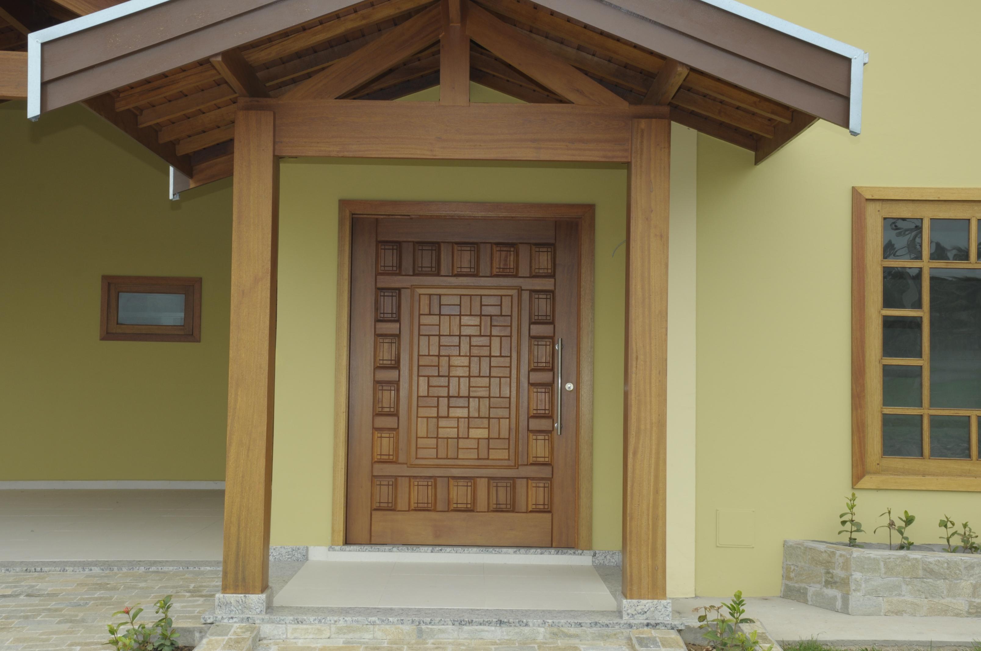 #61492F Porta de Madeira Madeireira Gardenal Porta de Madeira Porta de  1204 Portas E Janelas De Madeira Em Valinhos
